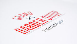 Grand Barber shop i Moss logo PS Press Reklame