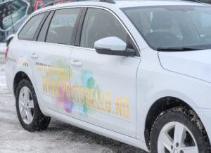 Foliering bil, reklame foliering, logo på bil