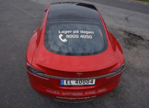 wrapping helfoliering foliering av bil med reklame