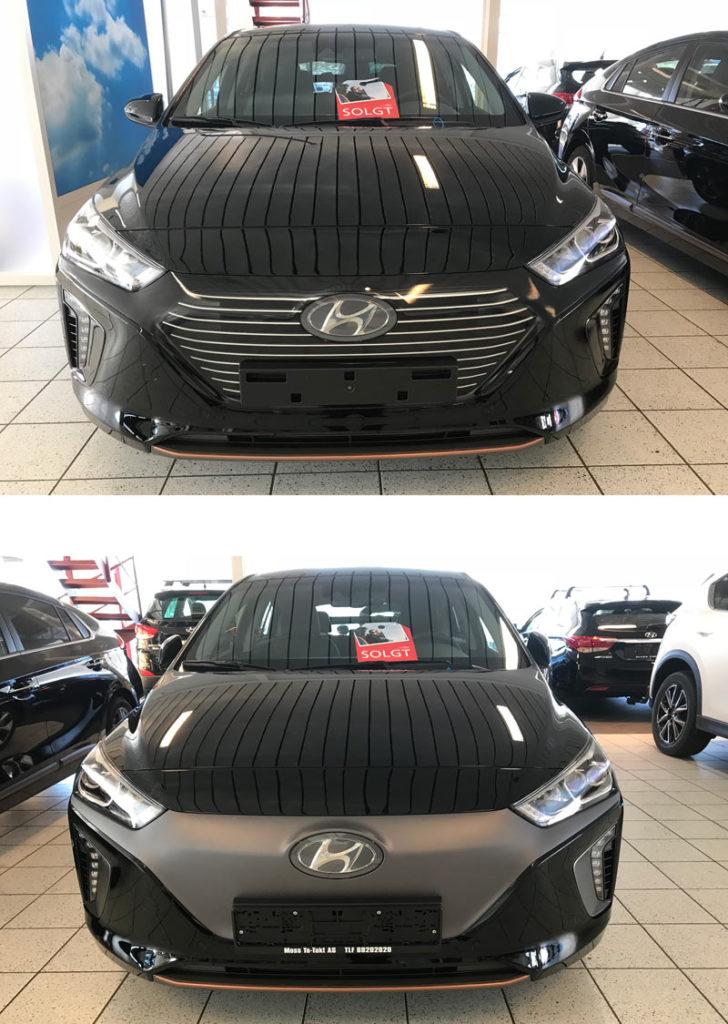 Grill Hyundai Ioniq foliert